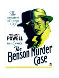 BENSON MURDER CASE, William Powell on window card, 1930. Prints