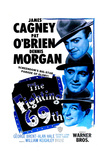 THE FIGHTING 69TH, US poster, from top: James Cagney, Pat O'Brien, George Brent, 1940 Poster
