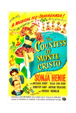 THE COUNTESS OF MONTE CRISTO, from top left: Sonja Henie, Olga San Juan, Arthur Treacher, 1948 Posters