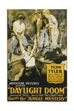 JUNGLE MYSTERIES, center: Tom Tyler, far right: Cecilia Parker in 'Chapter 6: Daylight Doom', 1932. Posters