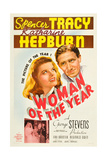 WOMAN OF THE YEAR, (poster art), Katharine Hepburn, Spencer Tracy, 1942 Posters