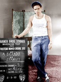 A STREETCAR NAMED DESIRE, Marlon Brando poses for wardrobe test, 1951 Posters
