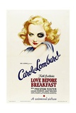 LOVE BEFORE BREAKFAST, Carole Lombard, 1936 Lámina
