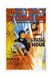 DICK TRACY VS. CRIME INC., CHAPTER 1, THE FATAL HOUR, US poster, 1941. Plakater