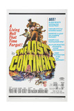 THE LOST CONTINENT, US poster, Eric Porter (top, in captain's hat), 1968 Prints
