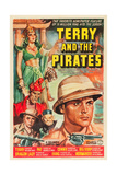 TERRY AND THE PIRATES, top left: Sheila Darcy, far right: William Tracy, 1940. Posters