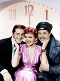 MIDNIGHT, from left: Francis Lederer, Claudette Colbert, Don Ameche, 1939 Print