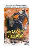KING KONG ESCAPES, (aka EL REGRESO DE KING-KONG), Argentinan poster, King Kong (far left), 1967 Kunstdrucke