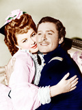 THEY DIED WITH THEIR BOOTS ON, from left: Olivia de Havilland, Errol Flynn, 1941 Prints