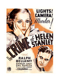THE CRIME OF HELEN STANLEY, US poster art, from top: Shirley Grey, Ralph Bellamy, 1934 Prints
