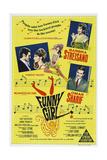 FUNNY GIRL, Australian poster, Barbra Streisand, Omar Sharif, 1968 Plakater