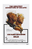 PAPILLON, US poster, from left: Steve McQueen, Dustin Hoffman, 1973 Prints