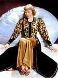 BLUEBEARD'S EIGHTH WIFE, Claudette Colbert, in a costume designed by Travis Banton, 1938 Print