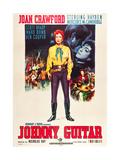 JOHNNY GUITAR, Joan Crawford on Italian poster art, 1954. Art
