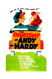 THE COURTSHIP OF ANDY HARDY, US poster, from left: Mickey Rooney, Donna Reed, 1942 Prints