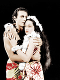 THE HURRICANE, from left: Jon Hall, Dorothy Lamour, 1937 Photo