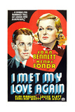 I MET MY LOVE AGAIN, US poster art, from left: Henry Fonda, Joan Bennett, 1938 Art