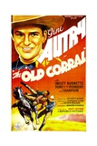 THE OLD CORRAL, Gene Autry, 1936 Print