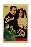 THE CORPSE VANISHES, Tris Coffin, Luana Walters, Bela Lugosi, Joan Barclay, 1942 Posters