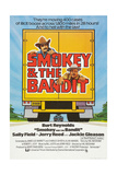 SMOKEY AND THE BANDIT, Burt Reynolds (top), Jackie Gleason, 1977 Prints