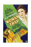 WOMAN TRAP, US poster art, bottom: Chester Morris, top: Evelyn Brent, 1929. Poster