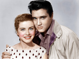 KING CREOLE, from left: Dolores Hart, Elvis Presley, 1958 Poster