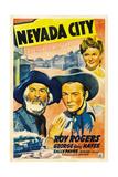 NEVADA CITY, from left: George 'Gabby' Hayes, Roy Rogers, Sally Payne, 1941. Art