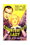 COUNTERFEIT LADY, US poster art, from left: Ralph Bellamy, Joan Perry, 1936 Poster