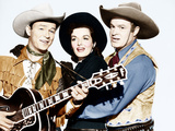 SON OF PALEFACE, from left: Roy Rogers, Jane Russell, Bob Hope, 1952 Photo