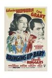 BRINGING UP BABY, Katharine Hepburn, Cary Grant, 1938 Prints