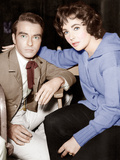 Raintree County, Montgomery Clift, Elizabeth Taylor, on set, 1957 Photo
