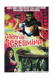 CARRY ON SCREAMING, US poster, from top: Angela Douglas, Fenella Fielding, 1966. Posters