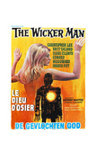 THE WICKER MAN, (aka LE DIEU D'OSIER), Belgian poster, 1973 Print