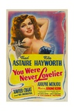 YOU WERE NEVER LOVELIER, Rita Hayworth, 1942 Poster