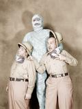 ABBOTT AND COSTELLO MEET THE MUMMY, from left: Bud Abbott, Eddie Parker, Lou Costello, 1955 Photo