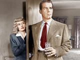DOUBLE INDEMNITY, from left: Barbara Stanwyck, Fred MacMurray, 1944 Posters