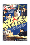 THE SCARLET LETTER, US poster, Colleen Moore (bottom left), Hardie Albright (top right), 1934 Prints