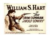 WOLF LOWRY, William S. Hart on title card, 1917 Prints