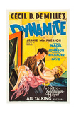 DYNAMITE, poster art, from left: Charles Bickford, Kay Johnson, 1929 Posters