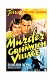 MURDER IN GREENWICH VILLAGE, US poster, from left: Fay Wray, Richard Arlen on poster art, 1937. Print
