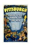 Pittsburgh, John Wayne, Randolph Scott, Marlene Dietrich, 1942 Plakat