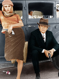 BONNIE AND CLYDE, from left: Faye Dunaway, Warren Beatty, 1967 - Poster