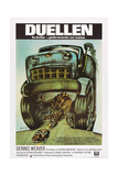 DUEL, (aka DUELLEN), Swedish poster, 1971 Art