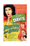 BEAUTIFUL BUT BROKE, US poster, top from left: Joan Davis, Judy Clark, Jane Frazee, 1944 Prints