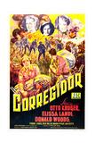 CORREGIDOR, US poster, top from left: Otto Kruger, Donald Woods, Elissa Landi, 1943 Prints