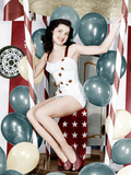 Debra Paget, age 16, strikes a patriotic pose, 1949 Photo