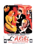 THE ALIBI, (aka L'ALIBI), French poster, 1937 Posters