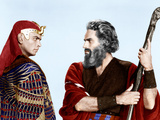 The Ten Commandments, Yul Brynner, Charlton Heston, 1956 Photo