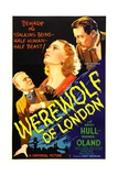 WEREWOLF OF LONDON, from left: Henry Hull, Valerie Hobson, Warner Oland, 1935. Posters