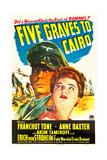 FIVE GRAVES TO CAIRO, Erich von Stroheim, Anne Baxter, 1943 Posters